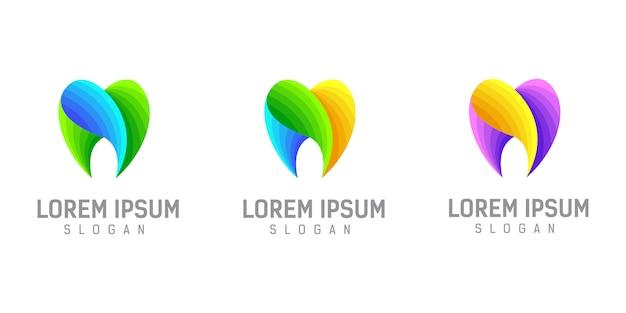 Ilustração de modelo de design de logotipo dental