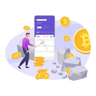 Ilustração de moeda criptografada
