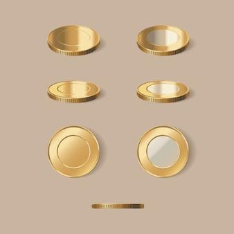 Ilustração de moedas de ouro