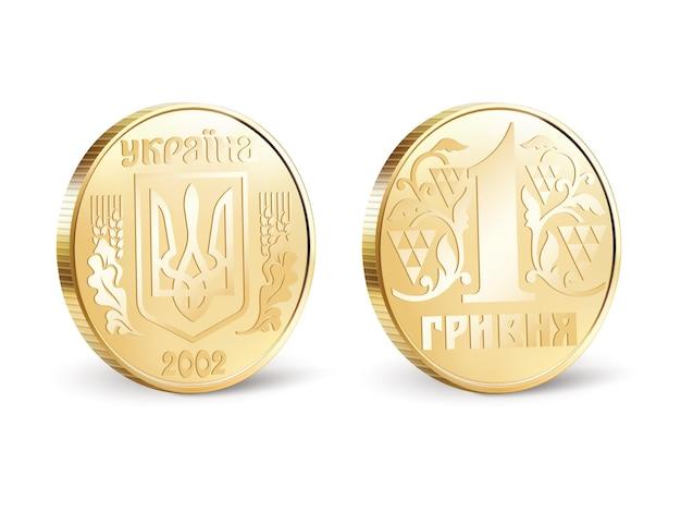 Ilustração de moedas ucranianas