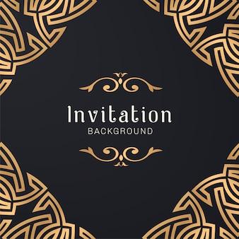 Ilustração de moldura decorativa ornamental ouro