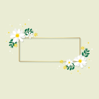 Ilustração de moldura floral primavera
