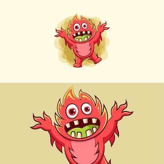 Ilustração de monstro assustador