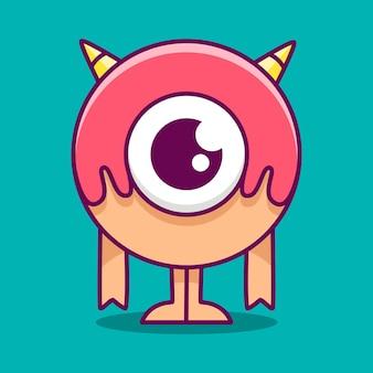 Ilustração de monstro de desenho animado