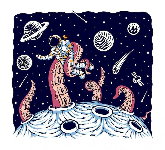 Ilustração de monstro do espaço