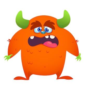 Ilustração de monstro dos desenhos animados chocado