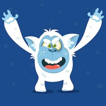 Ilustração de monstro engraçado dos desenhos animados