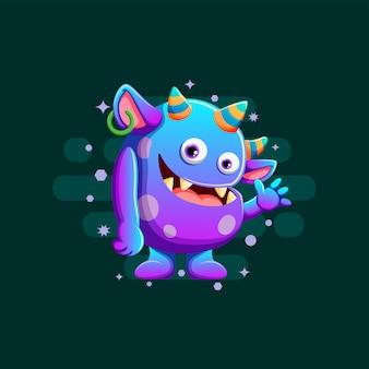Ilustração de monstros fofos
