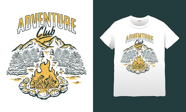Ilustração de montanha do adventure club