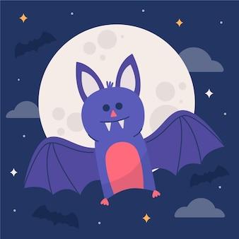 Ilustração de morcego de halloween