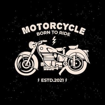 Ilustração de motocicleta antiga com estilo vintage