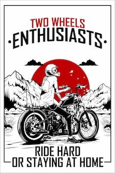 Ilustração de motocicleta chopper