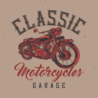 Ilustração de motocicleta clássica