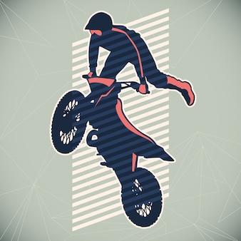 Ilustração de motociclismo