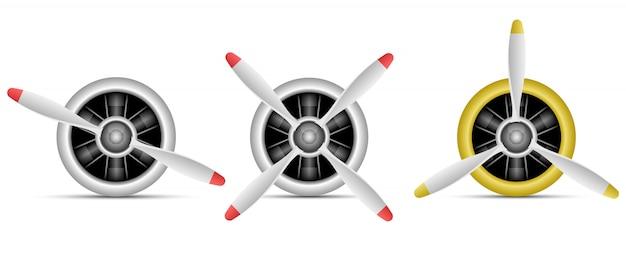 Ilustração de motor a jato em fundo branco