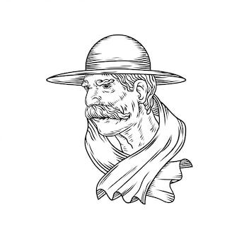 Ilustração de movember