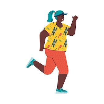 Ilustração de mulher corredor