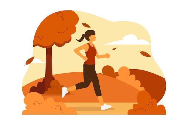 Ilustração de mulher correndo