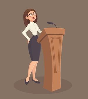Ilustração de mulher de alto-falante