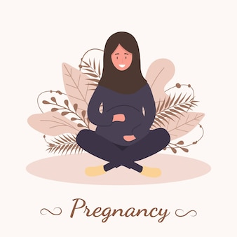 Ilustração de mulher grávida