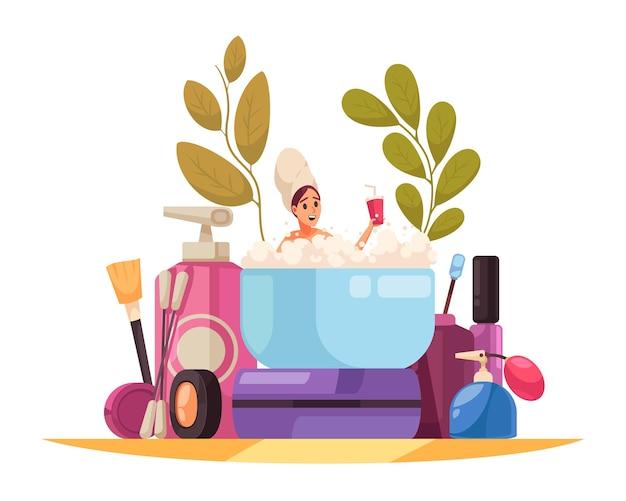 Ilustração de mulher relaxante Vetor Premium