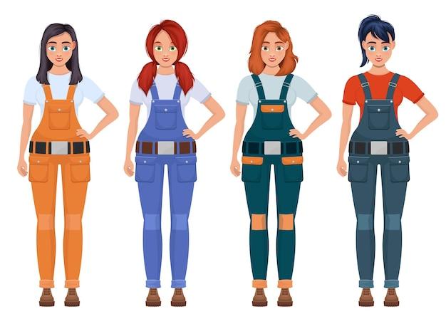 Ilustração de mulher trabalhadora isolada no branco