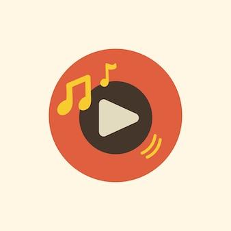 Ilustração, de, música, aplicação, ícone