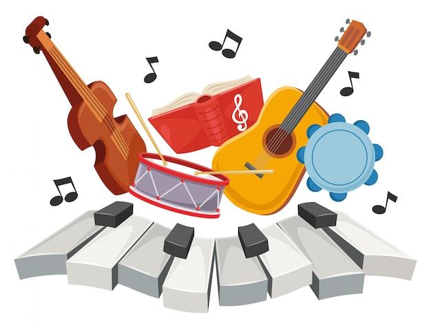 Ilustração de música infantil