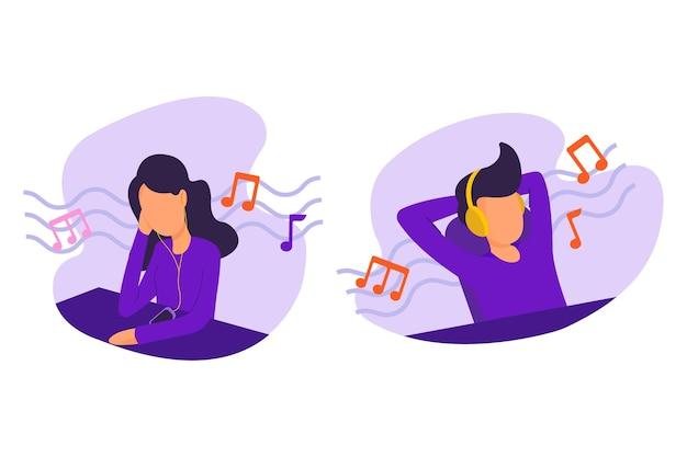Ilustração de música para ouvir