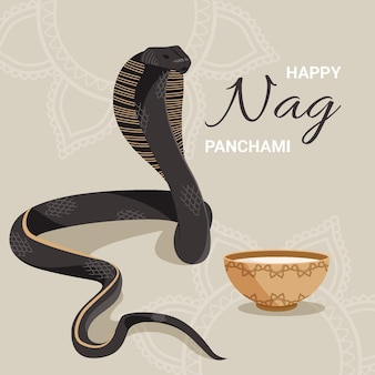 Ilustração de nag panchami