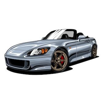 Ilustração de nardo grey sport car