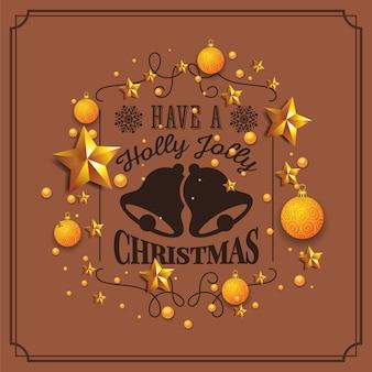 Ilustração de natal e feliz ano novo com tipografia