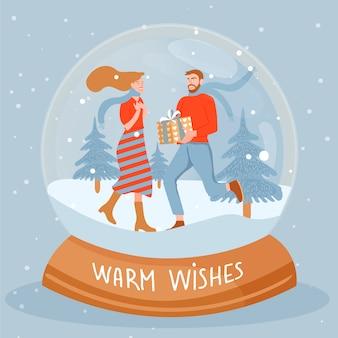 Ilustração de natal e feliz ano novo.