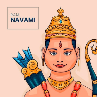 Ilustração de navami desenhada à mão