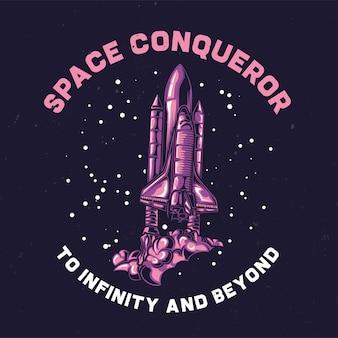 Ilustração de nave espacial