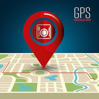 Ilustração de navegação gps