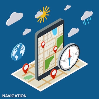 Ilustração de navegação