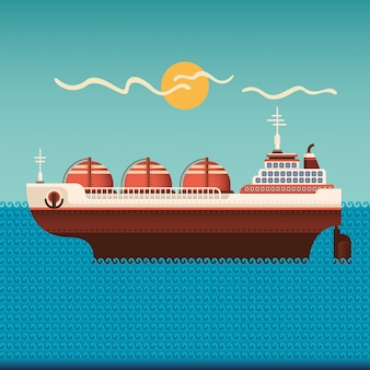 Ilustração de navio petroleiro