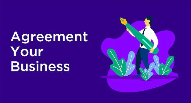 Ilustração de negócios de acordo