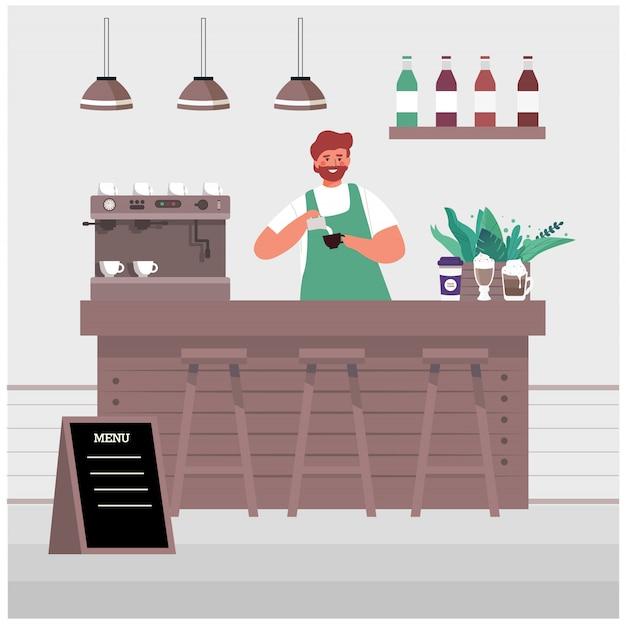 Ilustração de negócios de uma pequena empresa.