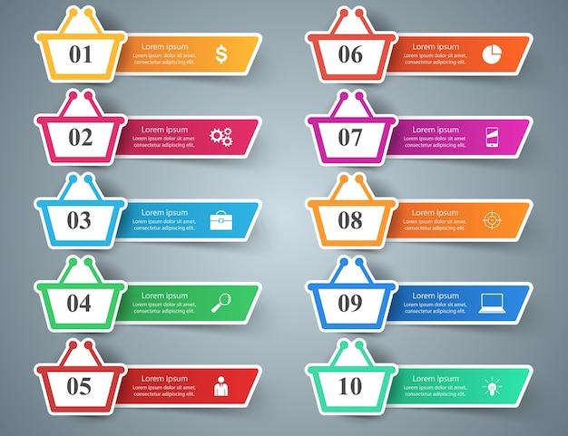 Ilustração de negócios. ícones de marketing