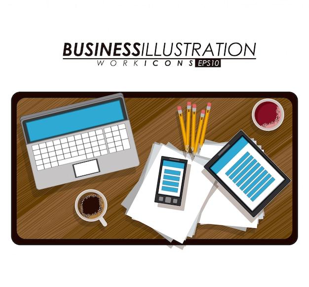 Ilustração de negócios.