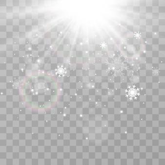 Ilustração de neve voando fenômeno natural de queda de neve ou nevasca