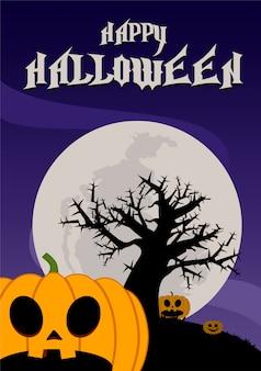 Ilustração de noite de halloween