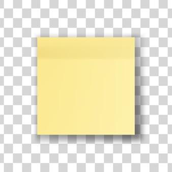 Ilustração de nota amarela isolada
