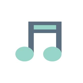Ilustração, de, nota música
