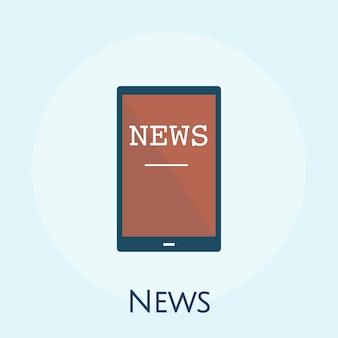 Ilustração, de, notícia online, conceito