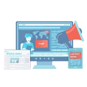 Ilustração de notícias de negócios e mercado