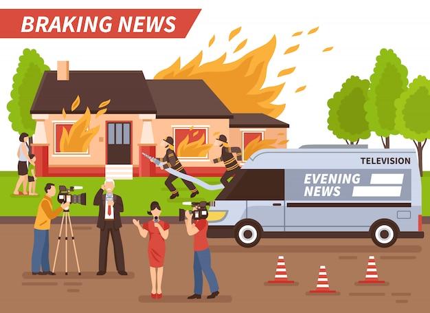 Ilustração de notícias de última hora