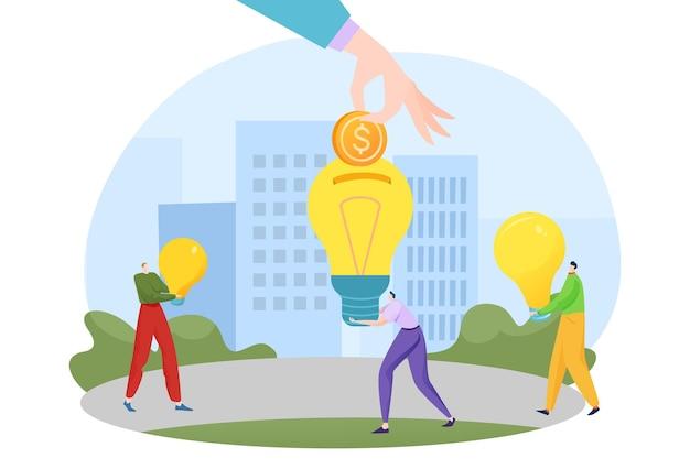 Ilustração de nova ideia de investimento